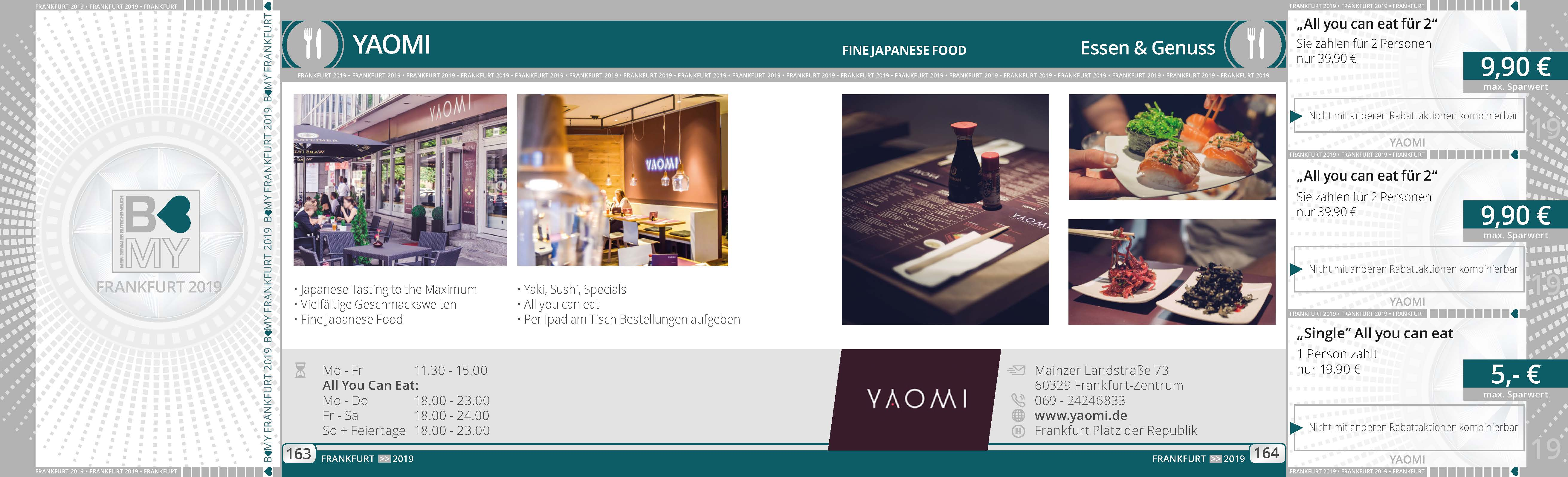 yaomi essen genuss partner 2019. Black Bedroom Furniture Sets. Home Design Ideas