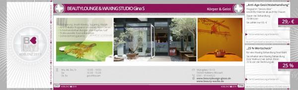 BEAUTYLOUNGE & WAXING STUDIO Gina S